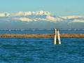 Venezia, laguna nord con il sistema montagnoso del Cavallo